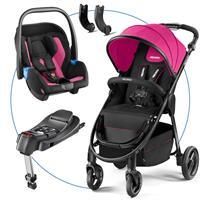 Recaro Citylife TravelSystem mit Babyschale Privia und Recaro Fix Basis Pink