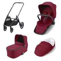 Recaro Kombikinderwagen Celona Rahmen Black Design Select Garnet Red