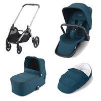 Recaro Kombikinderwagen Celona Rahmen Silver Design Select Teal Green