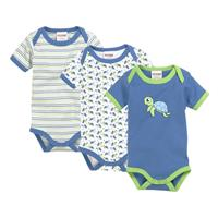 Schnizler Baby Bodysuit 3-Pack Turtle