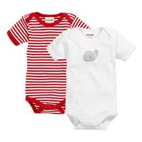 Schnizler Baby Bodysuit 2-Pack Whale red/white 86/92