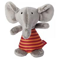 Sigikid Mini-Rattle Elephant Red Stars