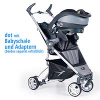 tfk dot buggy stroller 2016 grau with infant carrier Detaillierte Ansicht 02