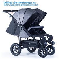 tfk geschwister zwillings wagen twinner lite design 2016 grau recline position Ansichtsdetail 03