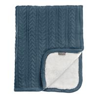Vinter & Bloom Decke Cuddly 100 x 80cm Storm Blue