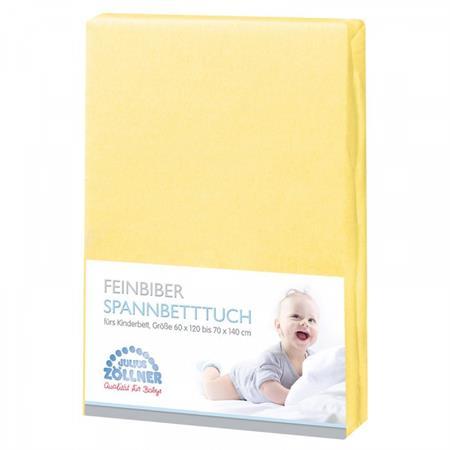 Zöllner Spannbetttuch Feinbiber70x140 cm Gelb