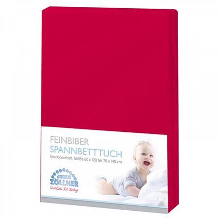 Zöllner Spannbetttuch Feinbiber70x140 cm Rot