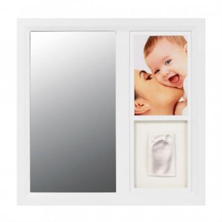 BabyArt Spiegel mit Fuß- oder Handabdruck Ihres Ba