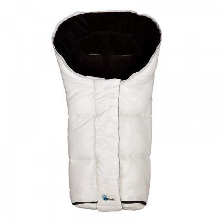 Altabebe Winterfußsack mit 6 Gurt-Schlitzen AL2227 Offwhite Schwarz