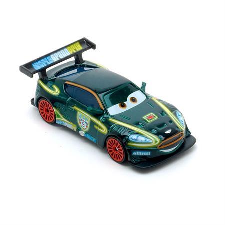 Disney Cars CBG10 Die-Cast Neon Racers Neon Racer Nigel Gearsley
