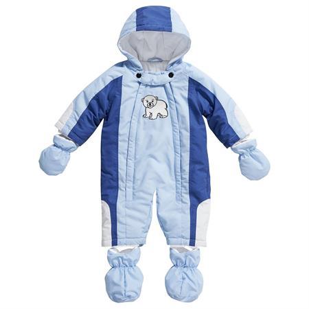 Playshoes Baby-Schneeanzug Eisbär Blau 74