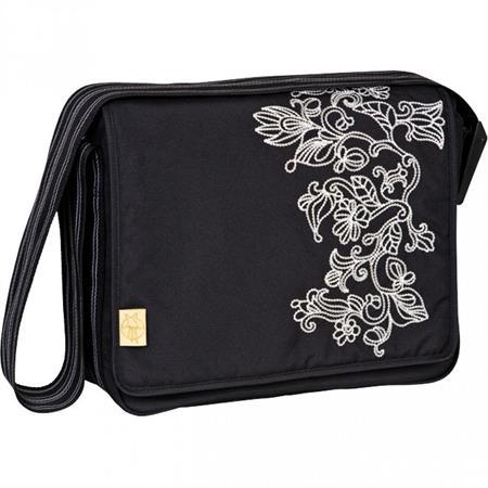 Lässig Wickeltasche Casual Messenger Bag Flornament Black