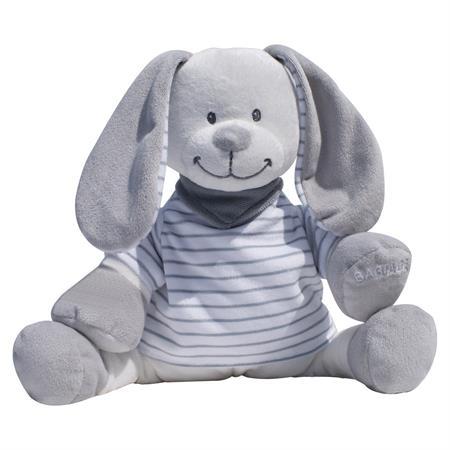 Babiage Doodoo Hase Plüschtier Einschlafhilfe für  Streifen Grau