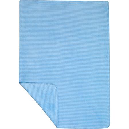 Zöllner Jacquarddecke 100x150 cm Streifen blau