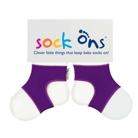 Funny Sockenhalter Sock Ons 0-6 Monate Violett