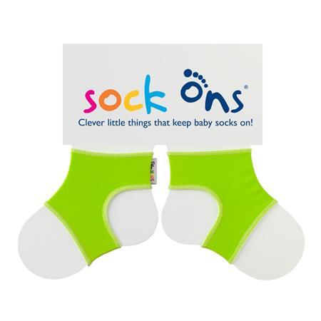 Funny Sockenhalter Sock Ons 6-12 Monate Grün