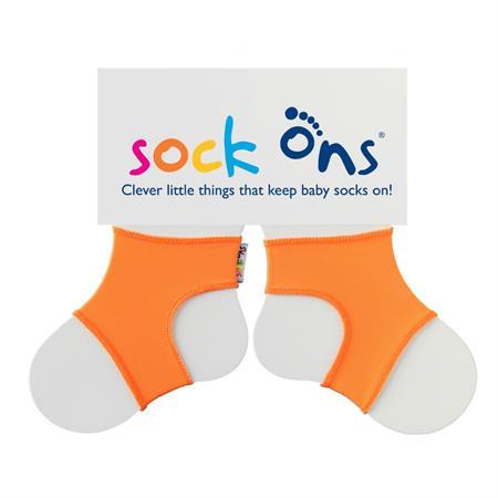 Funny Sockenhalter Sock Ons 6-12 Monate Orange