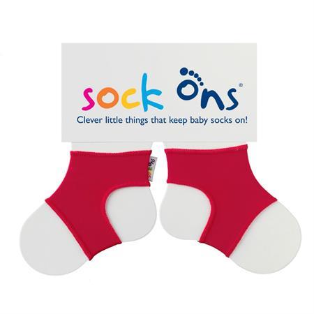 Funny Sockenhalter Sock Ons 6-12 Monate Rot
