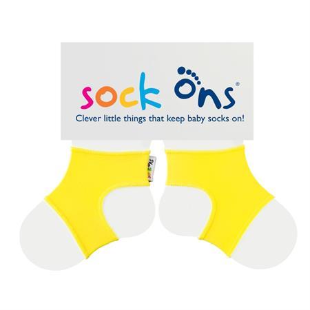 Funny Sockenhalter Sock Ons 6-12 Monate Gelb