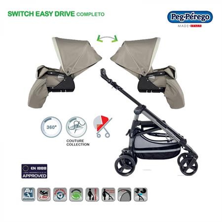 Peg Perego Switch Easy Drive Completo weiß Avana Detailansicht 01