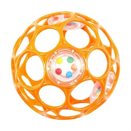 Oball Rassel 10cm Ball Greifling orange