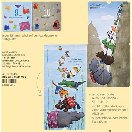 Haba Reim und Zählbuch: Tier auf Tier Detailansicht 01