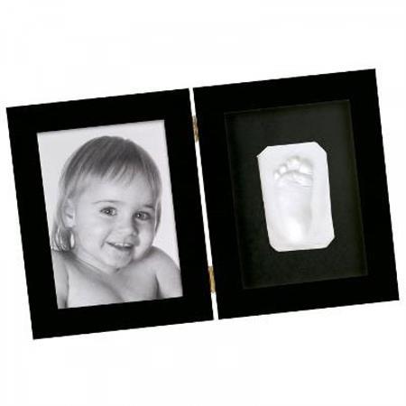 BabyArt Print - Black Fotorahmen mit Fuß-oder Hand