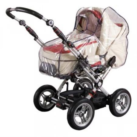 Sunny Baby Regenverdeck für Kinderwagen mit Schild