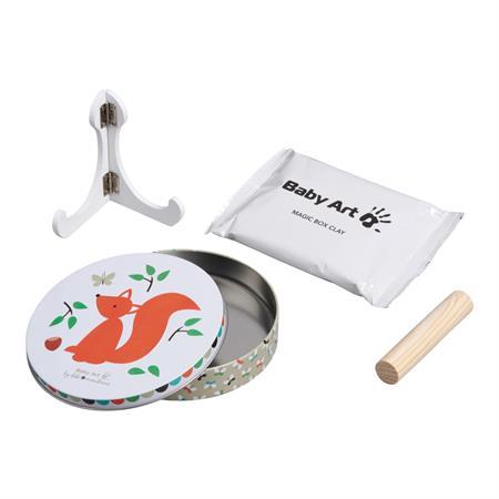 BabyArt Magic Box rund Eichhörnchen Hand, oder Fußabdruck Ihres Kindes zum selbergestalten Detail 01
