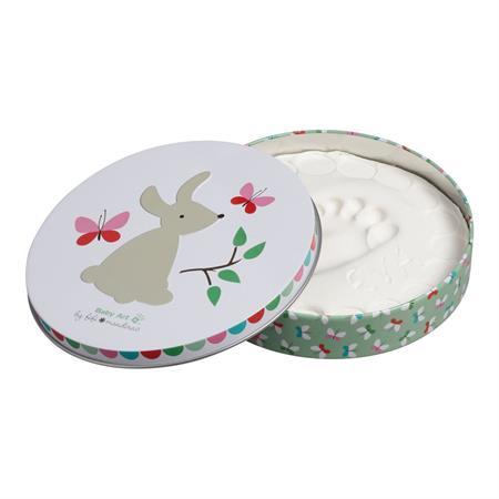 BabyArt Magic Box rund Bunny Hand, oder Fußabdruck Ihres Kindes zum selbergestalten