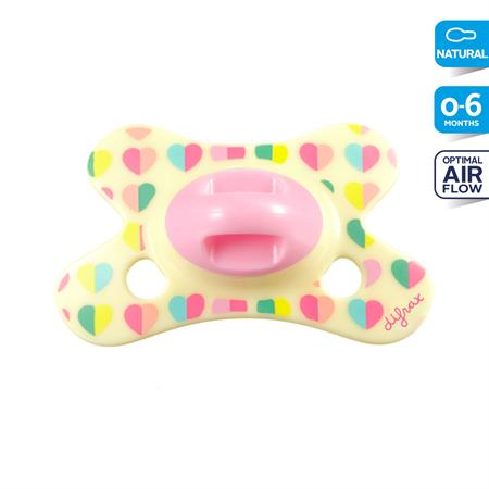 6001231 Difrax Soother Natural 0 6 Sweetheart