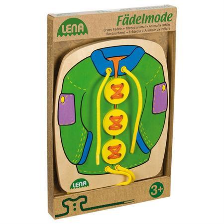 LENA Fädelbilder Fädelmode Jacke grün