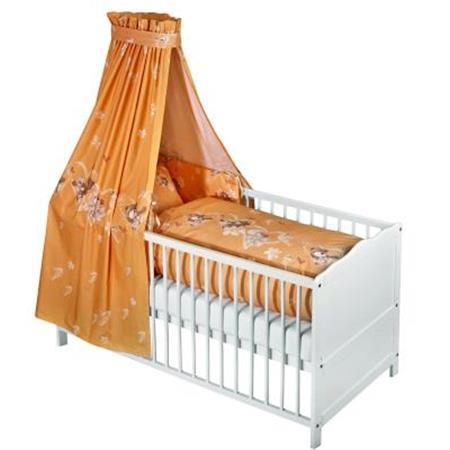 Zöllner Bett Set – Bettwäsche Nestchen Himmel Herz Apricot