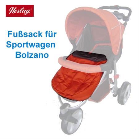 Herlag Fußsack H9527 für Sportwagen Bolzano Farbe: 0530 - orange-braun
