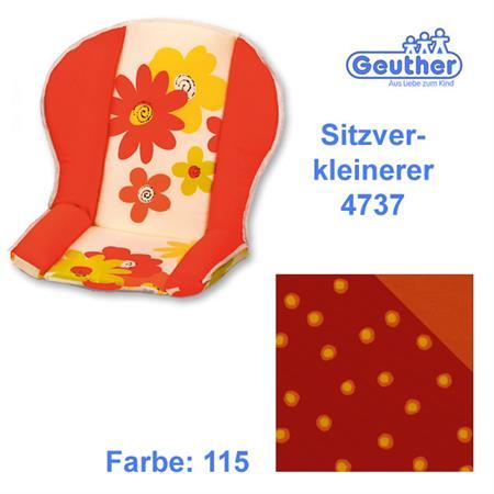 Geuther Sitzverkleinerer 4737 für alle Hochstühle  Rot Orange Punkte