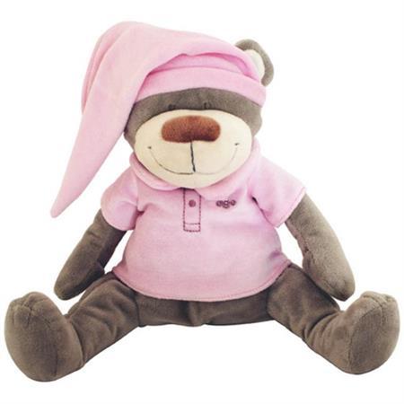 Babiage Doodoo Bär Plüschtier Einschlafhilfe für B Pink