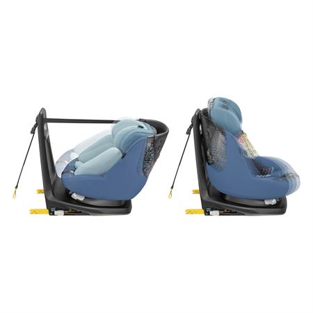 8025412110 Maxi-Cosi Axissfix Plus Frequency Blue Recline Positions Side