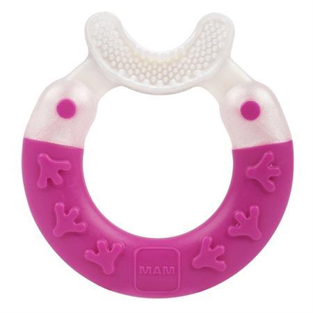 MAM Bite & Brush Beißring mit Zahnpflegefunktion Rosa
