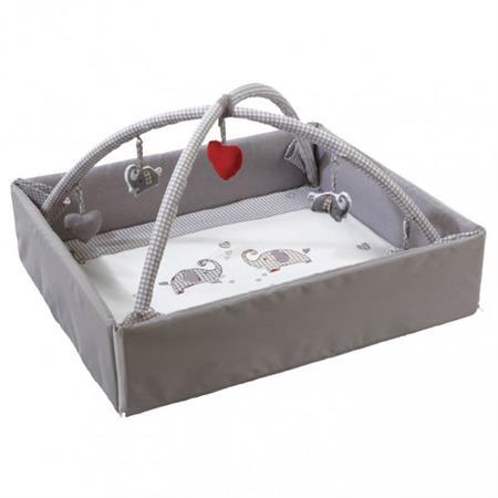 Roba Baby Nest mit Spielbogen Jumbotwins grau