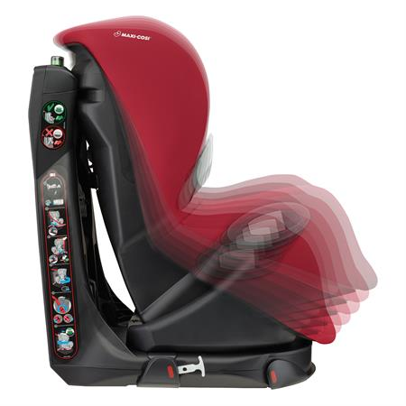 8608721110 Maxi-Cosi Axiss Vivid Red Multiple Recline Positions Side
