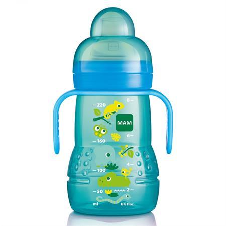 MAM Trainer Trinklernflasche 220ml Blau