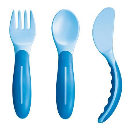 MAM Baby's Cutlery Esslernbesteck 1 Set 6+ Monate Blau