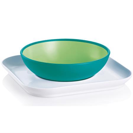 MAM Baby's Geschirr-Set Bowl & Plate Grün