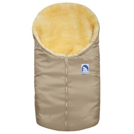 Heitmann Eisbärchen Lammfellfußsack 963 für Babysc Beige