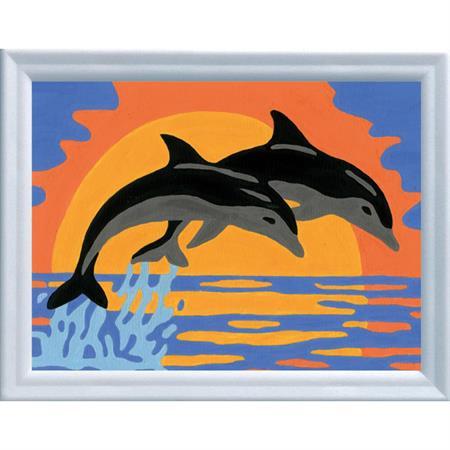 Ravensburger Malen nach Zahlen Serie F Delfinromantik