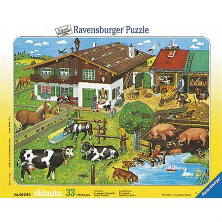 Ravensburger Kinderpuzzle Tierfamilien (33 T.)