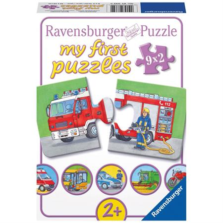 Ravensburger Kinderpuzzle 9x2 Teile Einsatzfahrzeuge