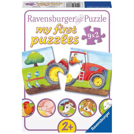 Ravensburger Kinderpuzzle 9x2 Teile Auf dem Bauernhof