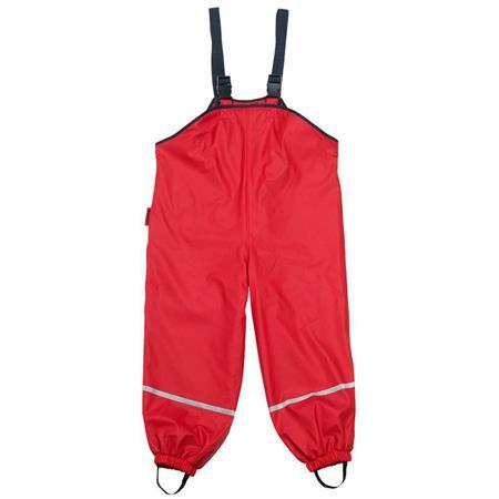 Playshoes Matschhose mit Trägern und Fleecefutter Rot 104
