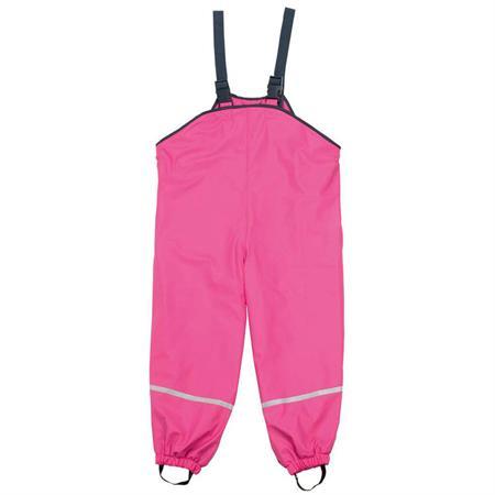 Playshoes Matschhose mit Trägern und Fleecefutter Pink 98
